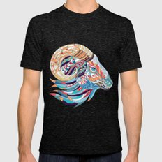 Decorative Goat  Mens Fitted Tee Tri-Black SMALL