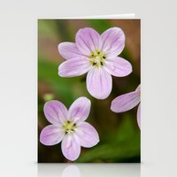 Trio of pink Stationery Cards