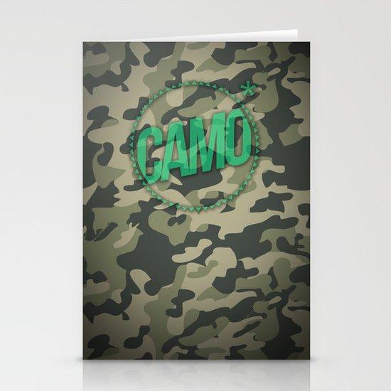 Camo Stationery Card