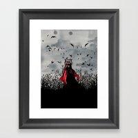 Red Vs The Wolf Framed Art Print
