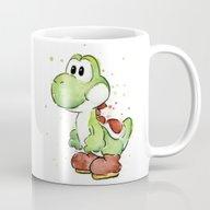 Yoshi Watercolor Mario Mug