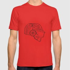 Daft punk Thomas bangalter Poster random access memories  digital illustration print Mens Fitted Tee Red SMALL