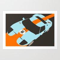 Orange Notch - Ford GT40… Art Print