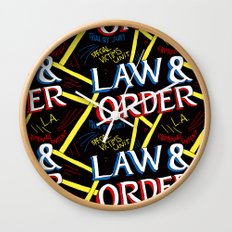 LAW & ORDER Wall Clock