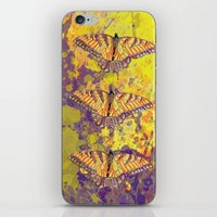 Butterfly Watercolor iPhone & iPod Skin