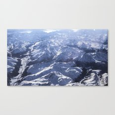 White mountains with snow winter nature Canvas Print