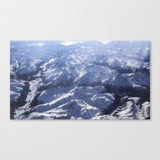 White Mountains With Sno… Canvas Print