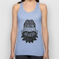 Only Real Hockey Players Grow Play Off Beards Unisex Tank Top