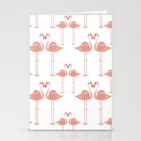 Flamingos - Tropical Bir… Stationery Cards