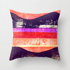 Press print and digital curves Throw Pillow