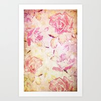 VINTAGE FLOWERS IX - for iphone Art Print