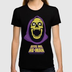 Skeletor - Bite me Womens Fitted Tee Black SMALL