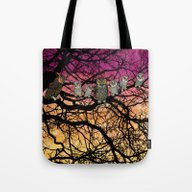 Great Horned Owls At Sun… Tote Bag
