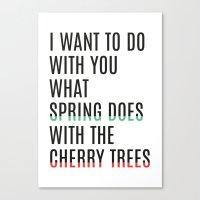 Spring & cherry trees Canvas Print