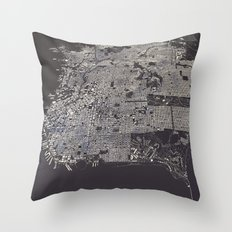 San Francisco City Map Throw Pillow