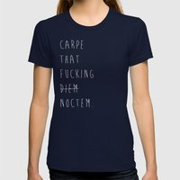 Carpe Noctem Womens Fitted Tee Navy SMALL