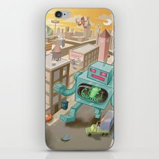 Squid vs Robot iPhone & iPod Skin