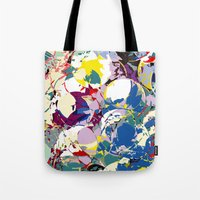 circle color fractures Tote Bag