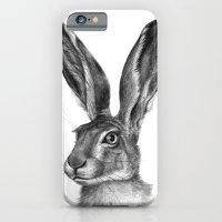 Cute Hare Portrait G126 iPhone 6 Slim Case