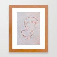 One line Akira: Kaneda Framed Art Print