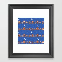 Stargazing Night Owls Framed Art Print
