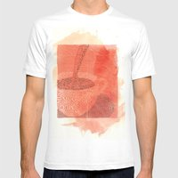 WakeUp! Mens Fitted Tee White SMALL