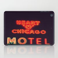 Heart 'O' Chicago Motel (Night) ~ vintage neon sign iPad Case