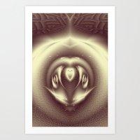Bumblebee - Fractal Art Art Print