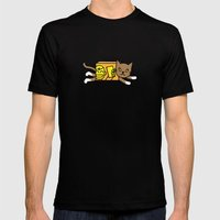 Box Cat Mens Fitted Tee Black SMALL