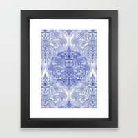 Happy Place Doodle In Co… Framed Art Print