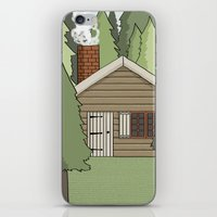 Deep In The Forest Illus… iPhone & iPod Skin