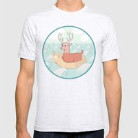 Deer Across the Sea Mens Fitted Tee Ash Grey SMALL