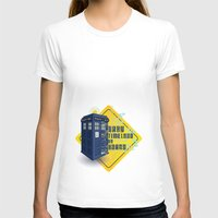 Doctor Who Tardis - Baby… Womens Fitted Tee White SMALL