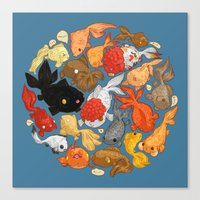 For The Love Of Goldfish Canvas Print