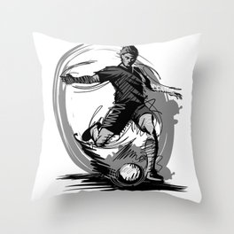 Throw Pillow - Playing Football - UniqueD