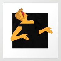 david bowie and the black square of gender Art Print