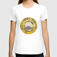 The Rising Sun Womens Fitted Tee White SMALL