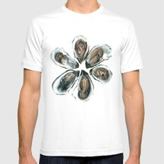Oysters on the Half Shell Mens Fitted Tee White SMALL
