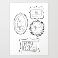 Be Happy In Your New Hom… Art Print