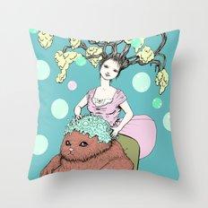 Purr Hairdresser Throw Pillow