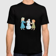 Do You Want To Build A Snowman? Black SMALL Mens Fitted Tee