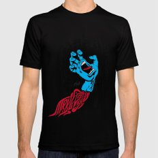 screaming hand Klevra   SMALL Black Mens Fitted Tee