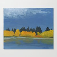 Jumbo Lake In The Fall 2… Canvas Print