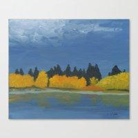 Jumbo Lake in the Fall 2015 Canvas Print