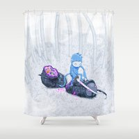 Samurai Monkey Shower Curtain
