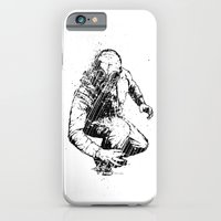 iPhone Cases featuring Trouble Will Find You, Always (Black/White Version) by Matthew Dunn