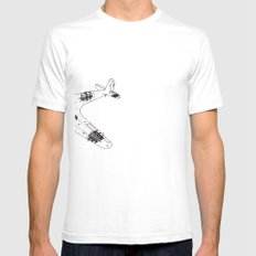 Airplane diagram White Mens Fitted Tee SMALL
