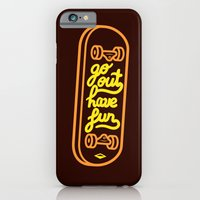 iPhone & iPod Case featuring Go Out Have Fun by micheleficeli