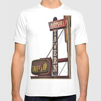 Airport tavern sign Mens Fitted Tee White SMALL