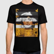 Klimt's Judith and the Head of Holofernes & Marlene Dietrich Mens Fitted Tee Black SMALL
